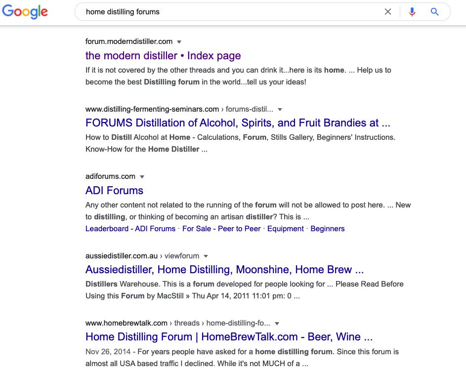 Utilisez Google pour trouver des forums